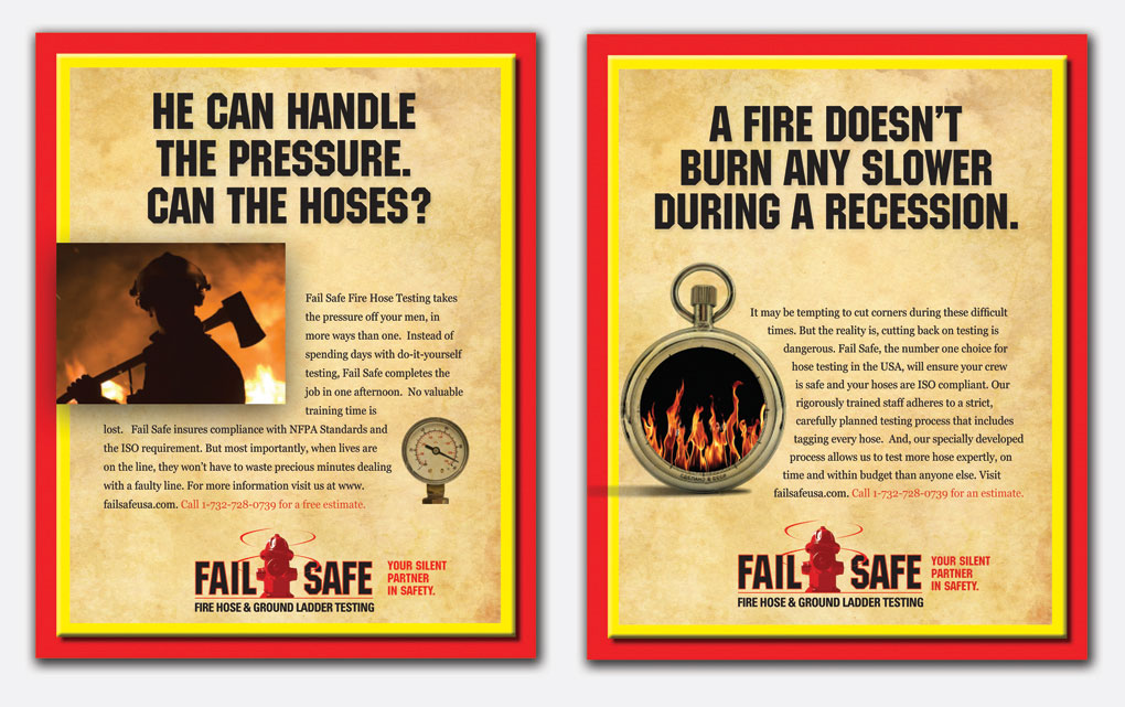 Ad campaign for Fail Safe Hose Inspector